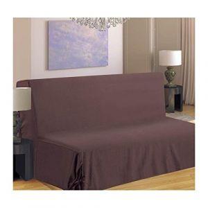Homemaison Housse de canapé pour BZ Taupe 140 x 190 cm