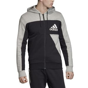 Adidas Sweat-shirt Sweat à capuche gris et noir Noir - Taille EU S,EU M,EU L