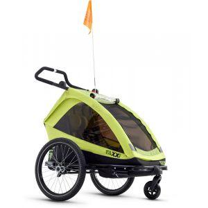 S'cool TaXXi Elite - Remorque vélo Enfant - vert Remorques pour enfant