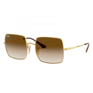 Ray-Ban Lunettes de Soleil SQUARE RB 1971 GOLD/BROWN SHADED unisexe