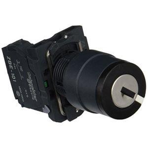 Schneider Electric Harmony bouton tournant noir Ø22 - à clé Ronis 455 - 2 positions - 1F - XB5AG61