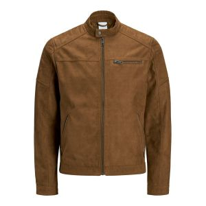 Jack & Jones Imitation Veste En Cuir Men brown