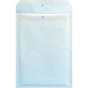 Clairefontaine 8442C - Boîte de 100 pochettes matelassées N°3, kraft blanc à bulles, 90 g/m², 145x215 (dim. intérieures)