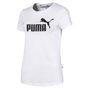 Puma ESS Logo Tee T- T-Shirt Femme, Blanc White, L