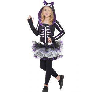 Smiffy's Costume squelette chat pour fille