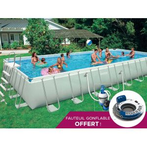 Intex 28372 Piscine Cadre Ultra rectangulaire 975 x 488 x 132 cm