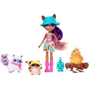 Mattel Playset Enchantimals Raelin Raton laveur Camping aventure