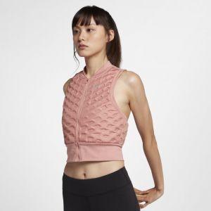 Nike Veste de Running Veste de running sans manches AeroLoft pour Femme - Rose - Taille L