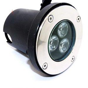Silamp Spot LED Encastrable Extérieur IP65 220V Sol 3W 80° - Blanc Neutre 4000K - 5500K -