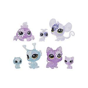 Hasbro Littlest PetShop - Jardin Enchanté - Tube 7 PetShop Minis & Teensies - Hortensia