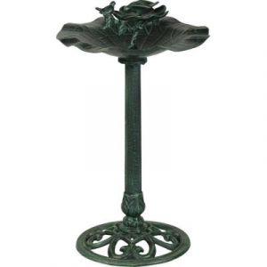 Fontes d'Art Dommartin Bassin à oiseaux en forme de tulipe couleur verte %u2013 82 cm de haut