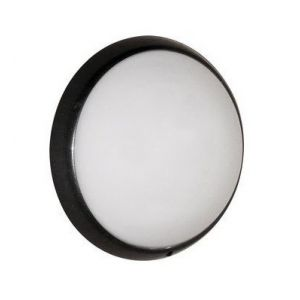 Ebénoid Hublot fluo 13W+13W Ø 300mm anthracite polycarbonate avec lampes G24q-1 4000K ballasts elec CL2 IK10 IP44 ALIUM 078327