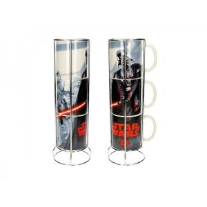 SD Toys Mugs Star Wars empilables Darth Vader et Stormtroopers
