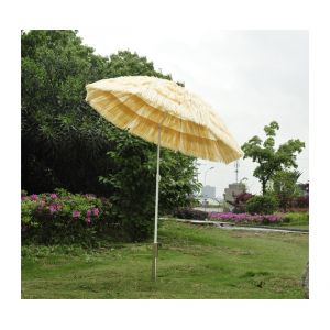 Homcom Hawaï - Parasol droit diamètre 160 cm