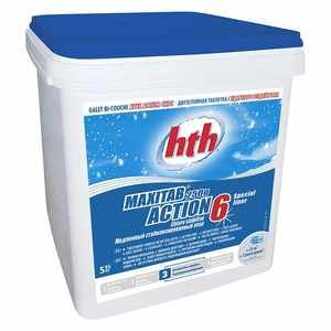 hth Chlore galets 6 actions Maxitab spécial Liner 5 kg
