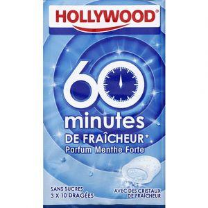 Hollywood 60 minutes de fraîcheur - Chewing-gum sans sucres avec édulcorants