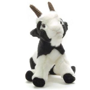 Anima Peluche Chèvre blanche et noire 26 cm