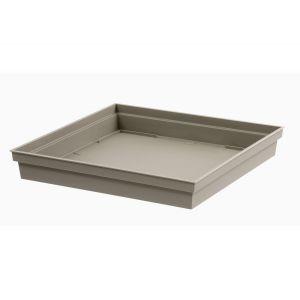 Eda Plastiques Toscane - Soucoupe carrée 32,6 x 32,6 cm
