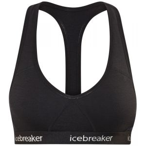 Icebreaker WMNS Sprite Racerback Bra Brassière de Sport Femme Black/Black FR: XS (Taille Fabricant: XS)