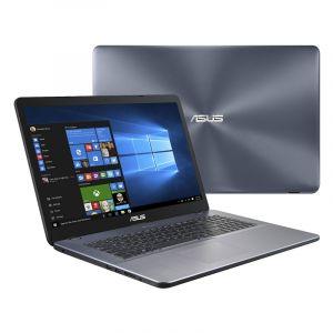 """Asus P17 P1700UB-GC259R - Core i5 8250U / 1.6 GHz - Win 10 Pro 64 bits - 8 Go RAM - 256 Go SSD + 500 Go HDD - 17.3"""" IPS 1920 x 1080 (Full HD) MX110 - 802.11ac, Bluetooth - gris"""