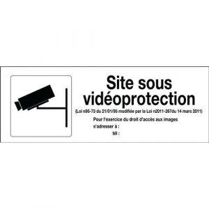 Novap Panneau surveillance vidéo Site sous videoprotection,