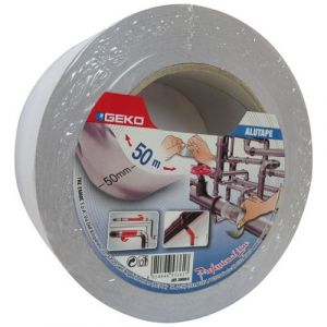 Geko Adhésif aluminium - 50 mm x 50 m - 30 microns