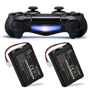 Cellonic 2X Batterie Premium Compatible avec Sony PS4 Dualshock 4, Playstation 4 Manette (ne Pas PS4 Pro/Slim V2 Manette) (1300mAh) LIP1522 Batterie de Recharge, Accu Remplacement