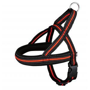 Trixie Fusion comfort harnais - S-M: 30-50 cm/25 mm, noir/orange