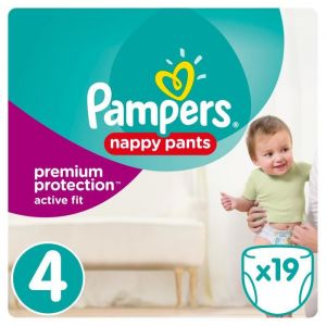 Pampers Premium Active Fit Pants taille 4 (8-14 kg) - 19 couches-culottes