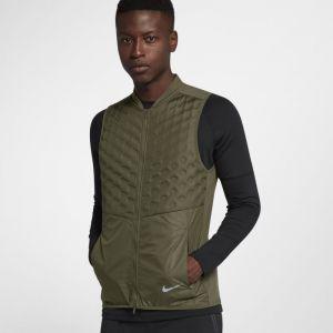Nike Veste de Running Veste de running AeroLoft pour Homme - Vert - Taille M