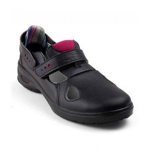 Gaston Mille Sandale de sécurité Femme - MIMOSA NOIR O1 SRC - Noir / Rose - 35 - taille: 35 - couleur: Noir / Rose