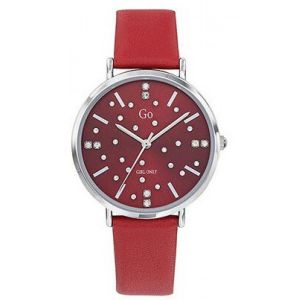Go Girl Only Montre Go Girl Only 699281 - Boîtier Acier Argent Bracelet Cuir Rouge Cadran Rouge Femme