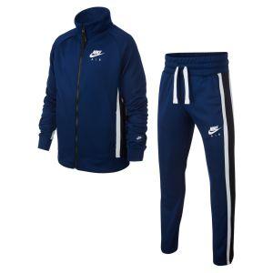 Nike B AIR TRK Suit Survêtement Garçon, Blue Void/Black White, FR (Taille Fabricant : XL)