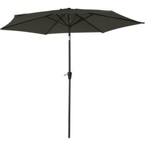 Happy Garden Parasol droit HAPUNA rond 2,70m de diamètre gris