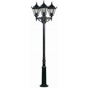 Albert Leuchten Lampadaire style rustique 756 noir à 3 lampes