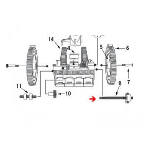 Procopi 1021016 - Axe d'engrenage de robot Victor