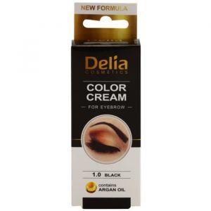 Delia Cosmetics Crème colorante pour les sourcils Noir