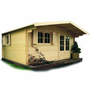 Solid S8981 - Abri de jardin Chamonix 4 en bois 40 mm 17,70 m2