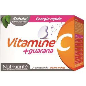 Nutrisanté Vitamines c + guarana, 24 comprimés