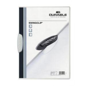 Durable 2260-02 - Chemise à clip SWINGCLIP, clip blanc, A4