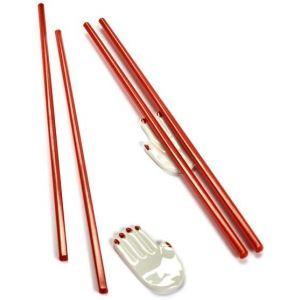 Serax Pose-baguettes Mains / Set de 2 (baguettes japonaises incluses) blanc,rouge en céramique