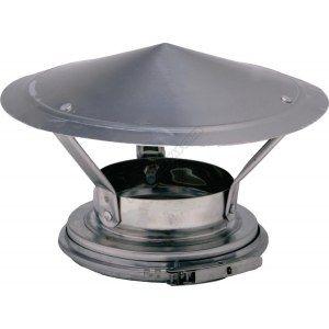 Ten Finition haute isolée double paroi inox Ø153-200+chapeau -