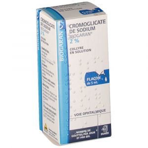Biogaran cromoglicate de sodium 2 5 ml collyre for Bisulfite de sodium piscine