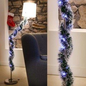 Guirlande de sapin verte enneigée 30 LED