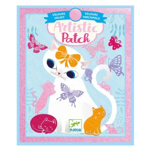 Djeco Collage Artistic Patch velours Bébés animaux