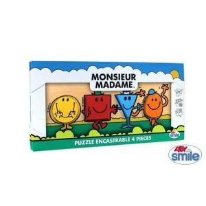 Abysmile Puzzle encastrable 4 pièces Monsieur Madame