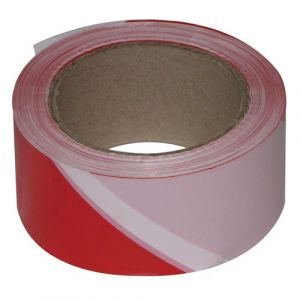 Novap Ruban de chantier - rouge et blanc - 100 m x 50 mm