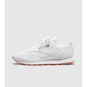 Reebok Cl LTHR, Sneaker Bas du Cou Femme, Blanc (White/Gum), 38.5 EU