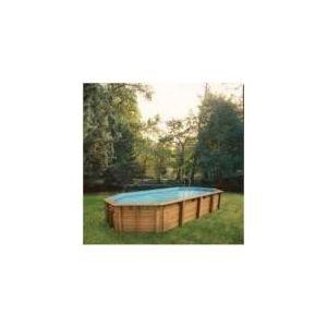Ubbink Super Tonga - Piscine ovale hors sol en bois 820 x 470 x 130 cm