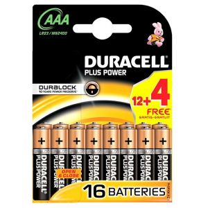 Duracell Pile PLUS POWER LR03 AAA 12+4